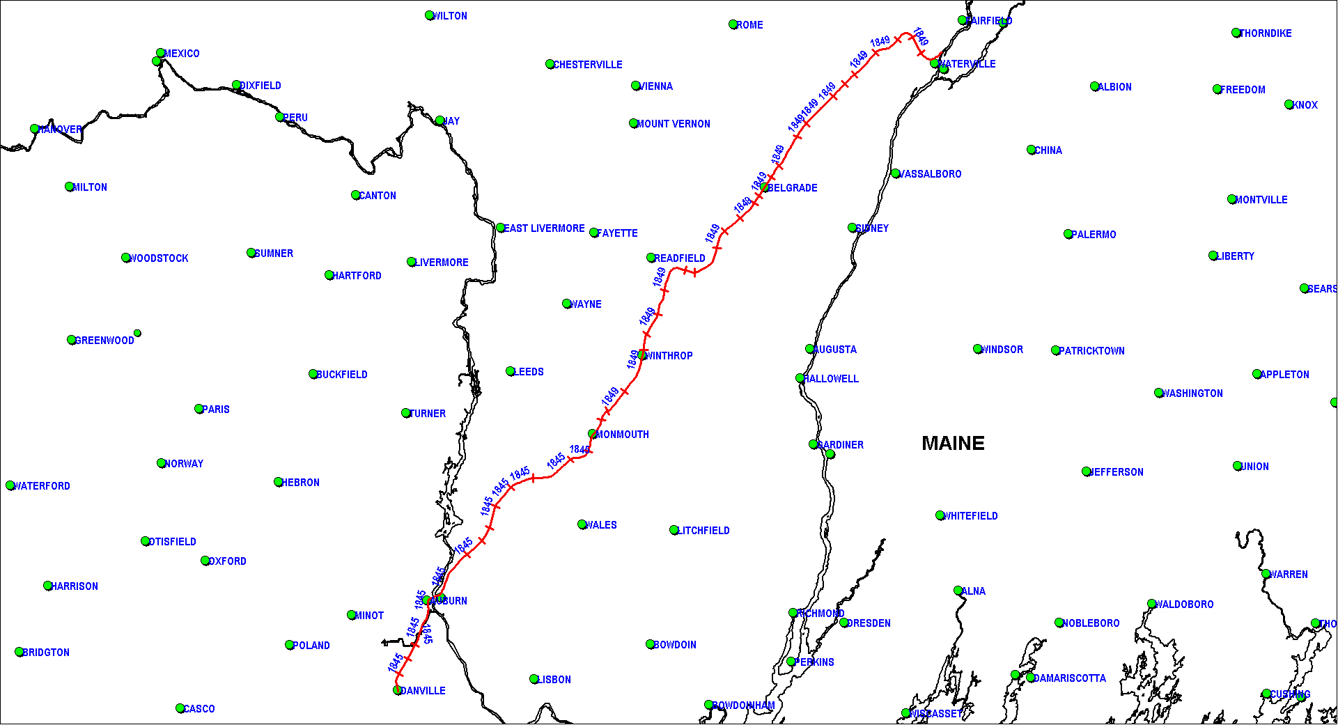 Androscoggin & Kennebec Railroad